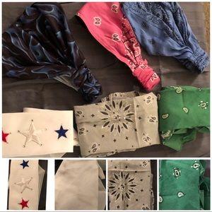 Bundle of 6 Women's Biker Headbands/Doo Rags!